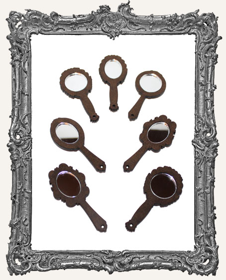 Mini Victorian Hand Mirror Cut-Outs - 7 Mirrors