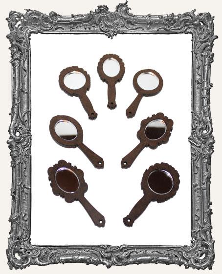 Mini Victorian Hand Mirror Cut-Outs - 7 Mirrors