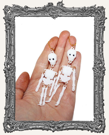 Little Plastic Articulated Skeletons - Pack of 2