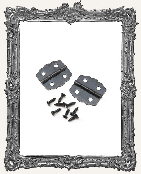 Hinge Set - Black Curved - 7/8 Inch