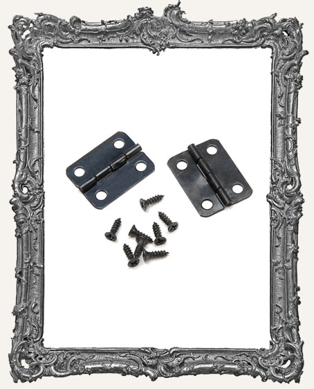 Hinge Set - Black - 1 Inch