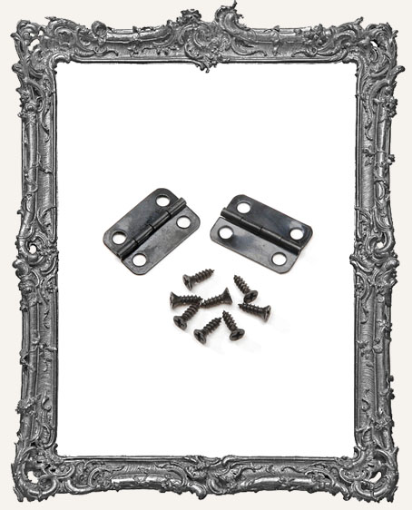 Hinge Set - Black - 22mm