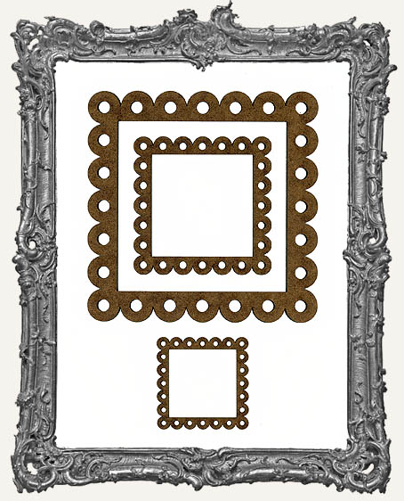 Niche Frames - Fancy Scalloped - 3 Sizes