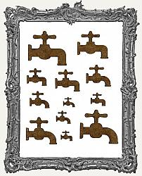 Steampunk Vintage Faucet Cut-Outs - 12 Pieces