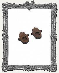 Hamsa Hand Shrine Charm El Tiny Trinket - PACKAGE OF 2
