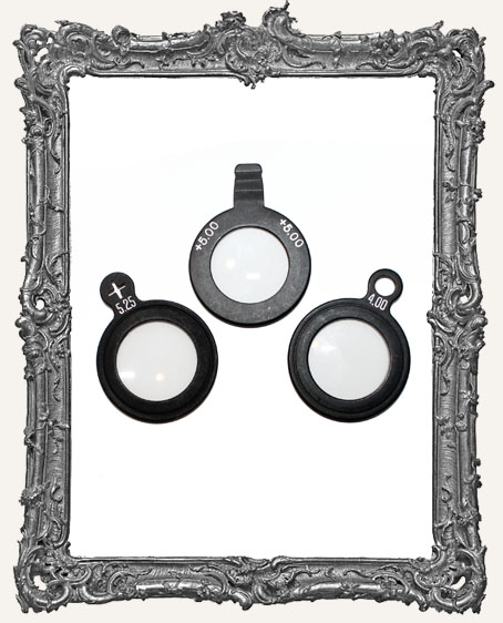 Black Metal Antique Glass Optical Lense