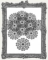 Black Spider Web Doilies - Pack of 12