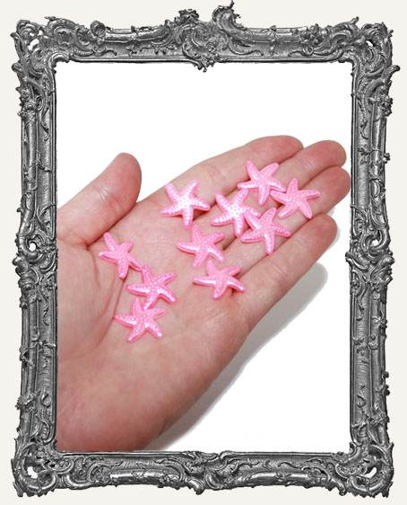 Flat Back Starfish Cabochon PINK - 20mm - 10 Pieces