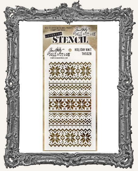 Tim Holtz Layering Stencils - Holiday Knit