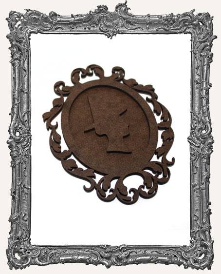 Victorian Halloween Cameo Frame Silhouette Ornament - Witch