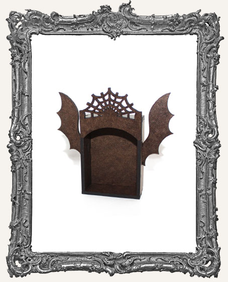 SMALL Box Shrine Kit - Halloween with Bat Wings