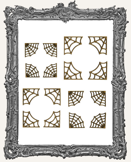 Spider Web Corner Cut-Outs - 16 Pieces