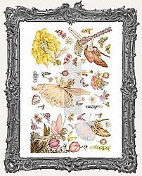 Prima Marketing Re-Design Small Decor Transfers - Fairy Flowers