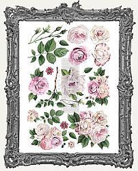 Prima Marketing Re-Design Small Decor Transfers - Delicate Roses