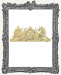 German Dresden Gold Large Coat of Arms 1 Piece