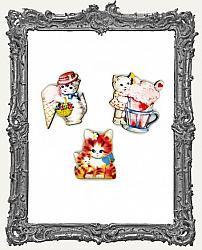 Limited Edition Sweet Vintage Kitty Cut-Outs - Set of 3