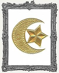 German Dresden Gold Large Crescent Moon 1 Piece
