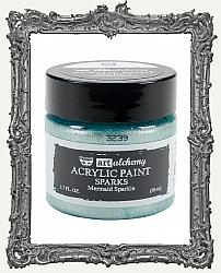Finnabair - Art Alchemy - Sparks Acrylic Paint - Mermaid Sparkle