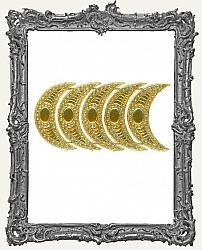 German Dresden Gold Ornate Crescent Moons 5 Pieces