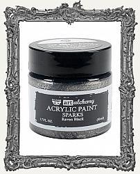 Finnabair - Art Alchemy - Sparks Acrylic Paint - Raven Black