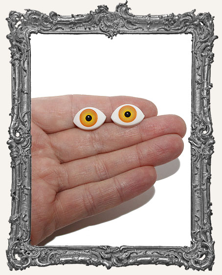 One Pair ACRYLIC Eyes - Large Orange