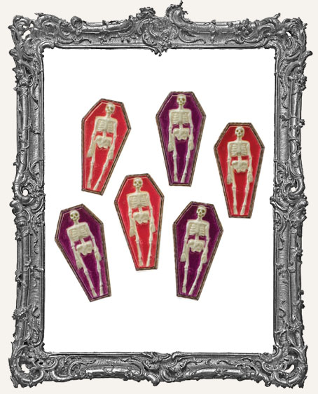 Skeleton Coffin Cabochons