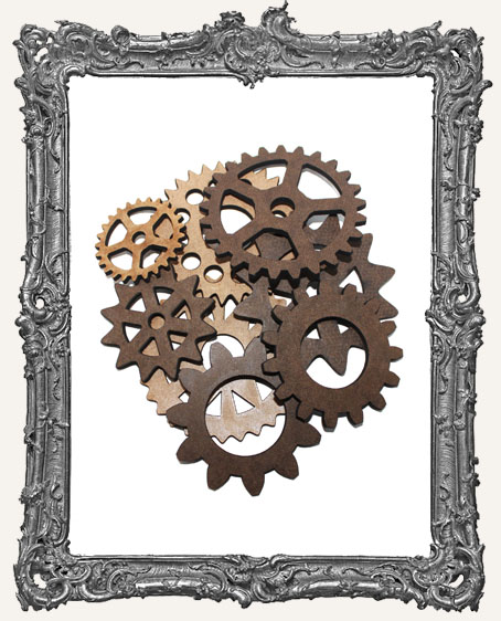 Limited Edition Large Steampunk Gear Cut-Outs - 8 Pieces
