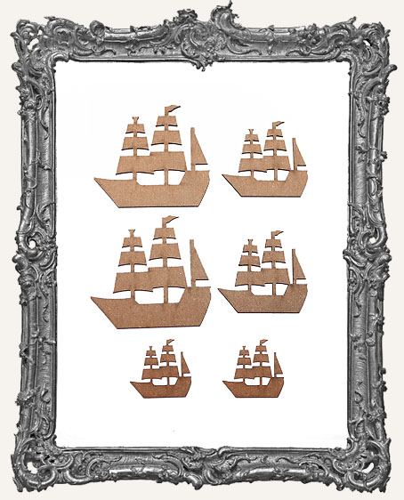 Pirate Ship Cut-Outs - 6 Pieces
