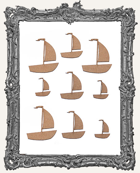Sailboat Cut-Outs - 9 Pieces