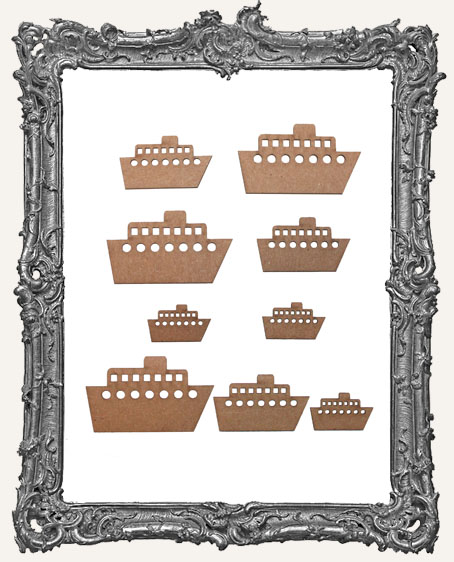 Tugboat Cut-Outs - 9 Pieces