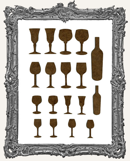 Halloween Goblet Cut-Outs - 18 Pieces