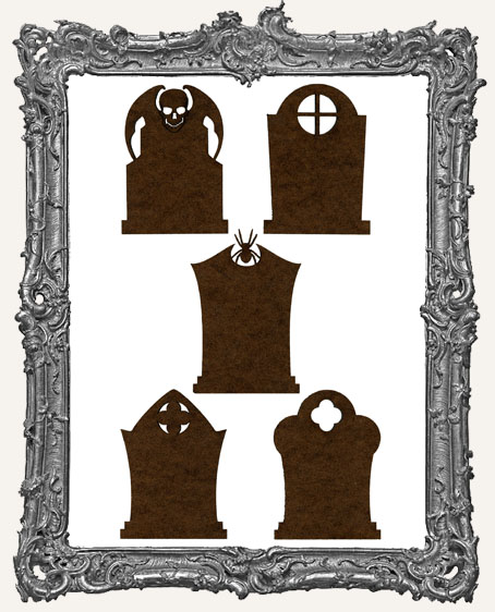 Gothic Tombstone ATC Bases NEW PART II - Set of 5