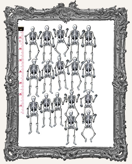 17 Vintage Skeleton Paper Cuts - Classic White