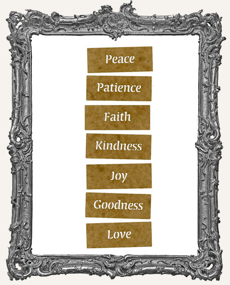 Mini Stencil Words Set of 7 - Virtues