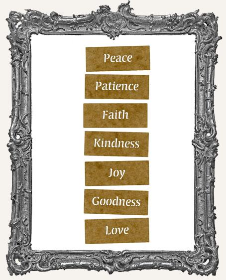 Mini Stencil Words Set of 7 - Virtues
