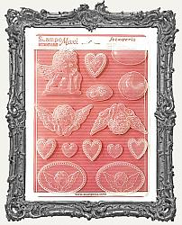 Stamperia A4 Soft Maxi Mould - Angels and Hearts