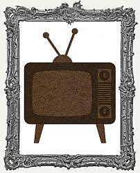 Mixed Media Creative Surface Board - Layered Retro Television