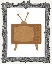 Layered Chipboard Retro Television Cut-Outs
