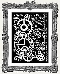 Stamperia Stencil - Steampunk Mechanism