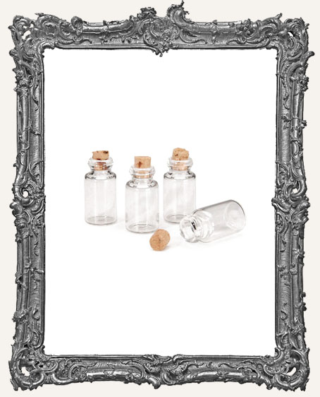 Miniature Spice Bottle with Cork Plug - 4 pieces
