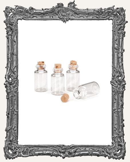 Miniature Spice Bottle with Cork Plug - 4 pieces
