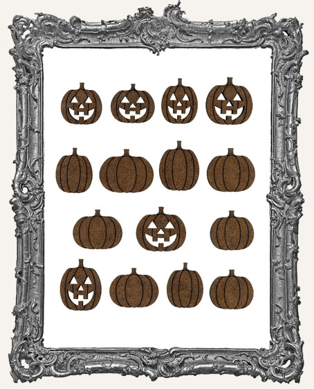 Engraved Pumpkin Cut-Outs - 15 Pieces