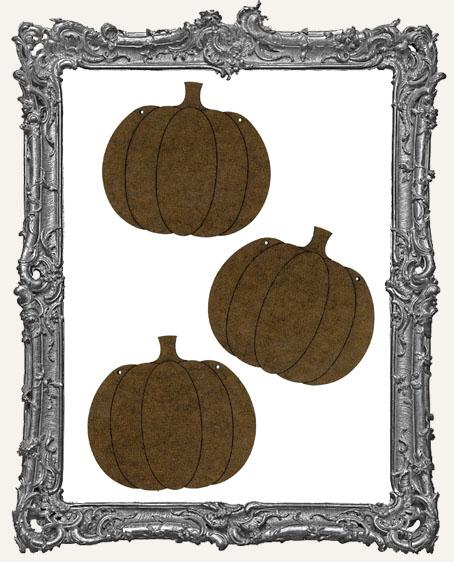 Pumpkin Ornaments - Set of 3