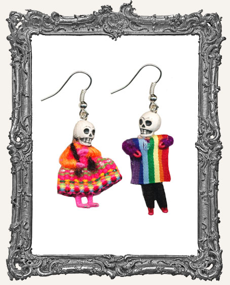 Mini Dia De Los Muertos Skeleton Earrings