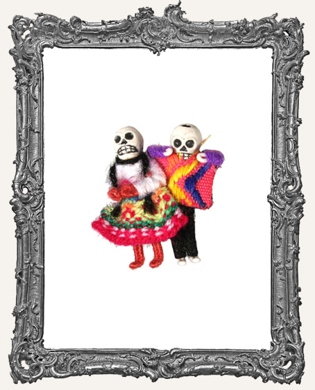 Mini Dia De Los Muertos Skeleton Pin
