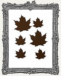 Rustic Tin Metal Leaves Pack of 6