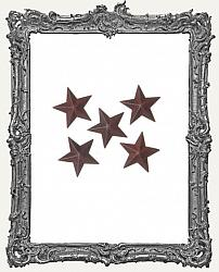 Rustic Tin Dimensional Star - 1 Inch - 5 pieces