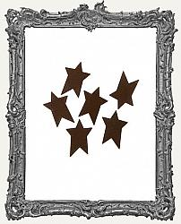Rustic Tin Folk Star - 1 inch - 6 pieces