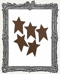 Rustic Tin Folk Star - 1.75 inches - 5 pieces