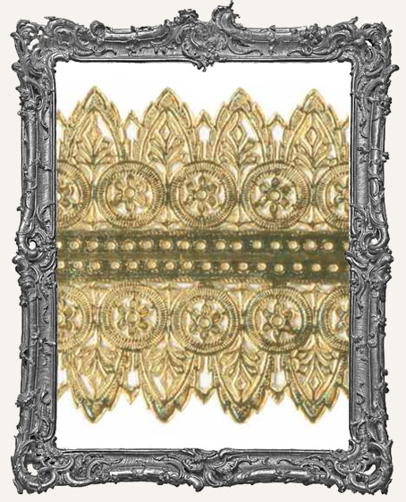 German Dresden Border Large Fancy Gold Arch 2 Strips